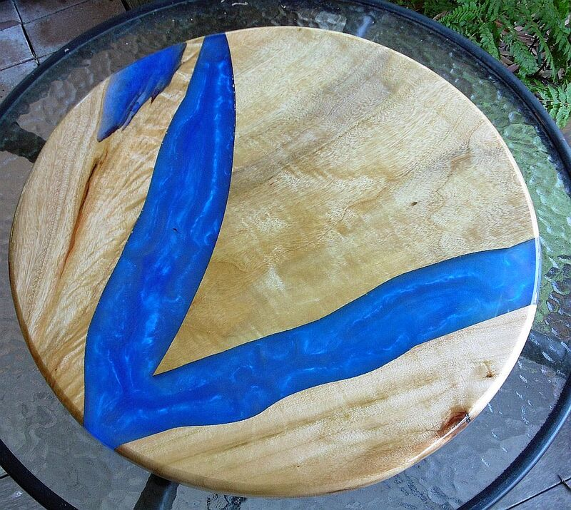Resin Timber Lazy Susan